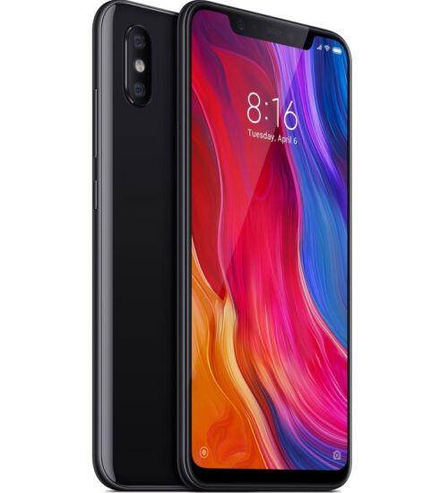 Xiaomi Mi 8 6GB 128GB Dual SIM fekete, Kártyafüggetlen, 1 év teljes körű garancia