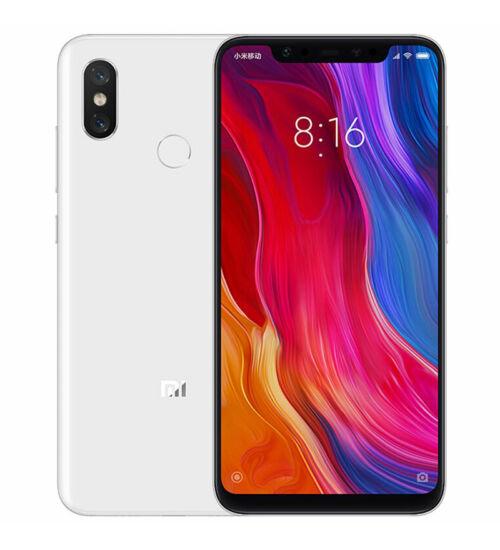 Xiaomi Mi 8 6GB 128GB Dual SIM fehér, Kártyafüggetlen, 1 év teljes körű garancia