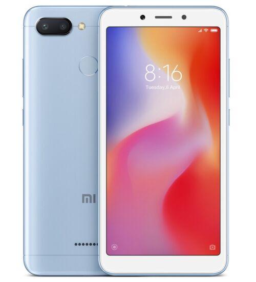 Xiaomi Redmi 6A 2GB 32GB Dual SIM kék, Kártyafüggetlen, 1 év teljes körű garancia