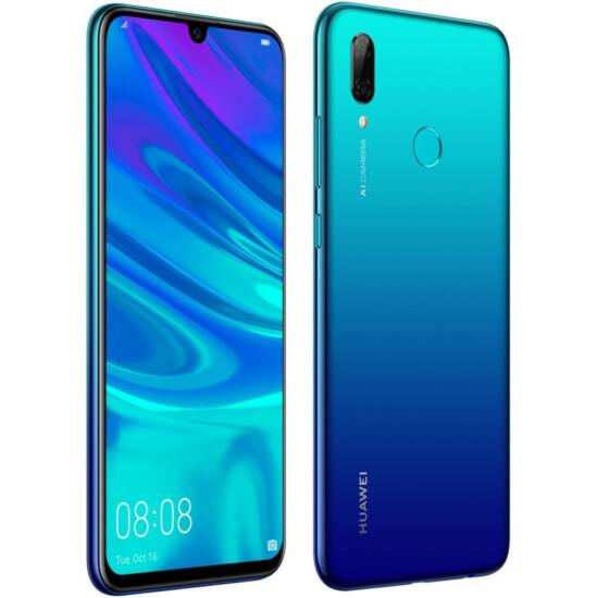 Huawei P Smart (2019) 64 GB, Dual SIM, Aurora kék, Kártyafüggetlen, 2 év gyártói garancia