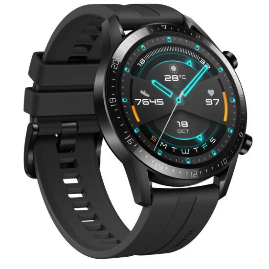 Huawei Watch GT 2 fekete okosóra, Gyártói garancia, 46mm