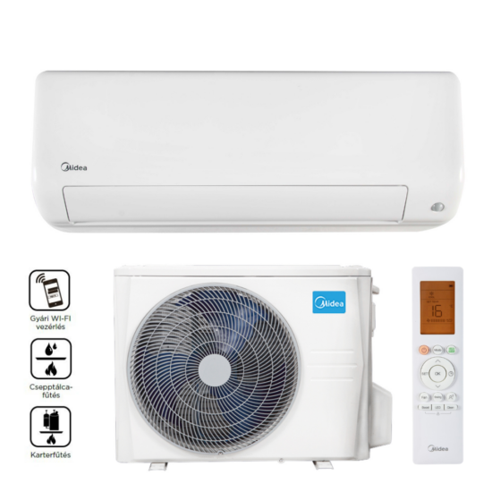 Midea MEX-24-SP All Easy Pro Inverteres oldalfali split klíma, Wifi, 7,0 kW