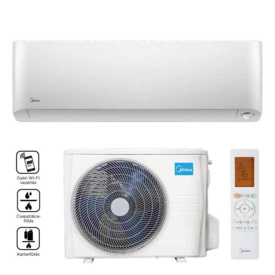 Midea MOP-09-SP Oasis Plus Inverteres oldalfali split klíma, Wifi, 2,6 kW
