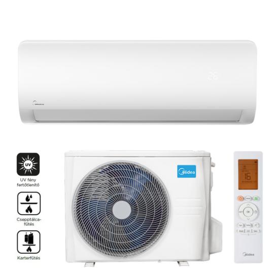 Midea MGP2X-12-SP Xtreme Save Pro Inverteres oldalfali split klíma, Wifi, 3,5 kW