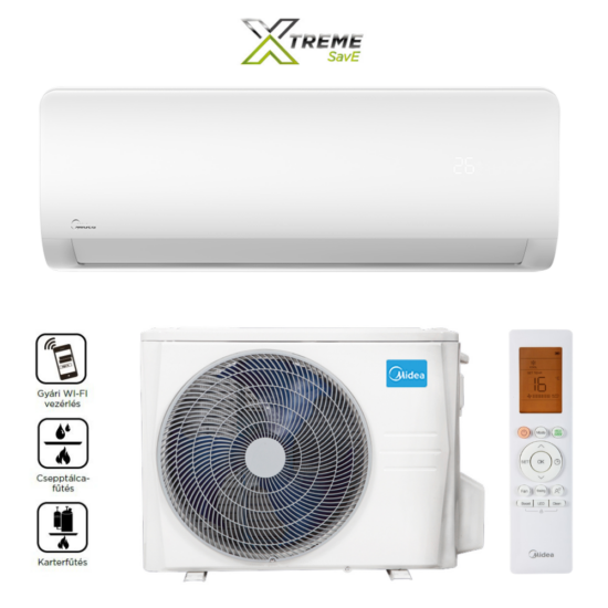 Midea MG2X-09-SP Xtreme Save Inverteres oldalfali split klíma, Wifi, 2,8 kW