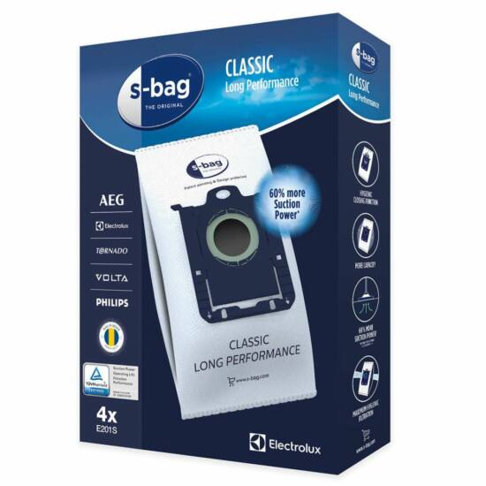 Electrolux E201S S-Bag Classic Long Performance porzsák 4db