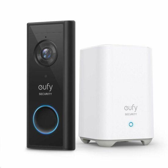 Anker Eufy Video Doorbell 2K video kaputelefon kültéri egység + HomeBase 2 központi egység szett (E82101W4)