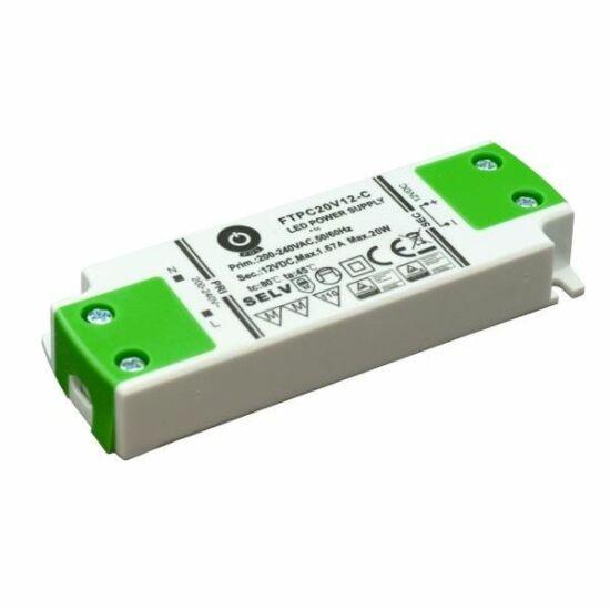 POS Power FTPC20V12-C 12V/1.67A 20W IP20 LED tápegység