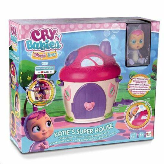 IMC Toys Cry babies - Katie könnyes baba háza játékszett babával és kiegészítőkkel (IMC097940)