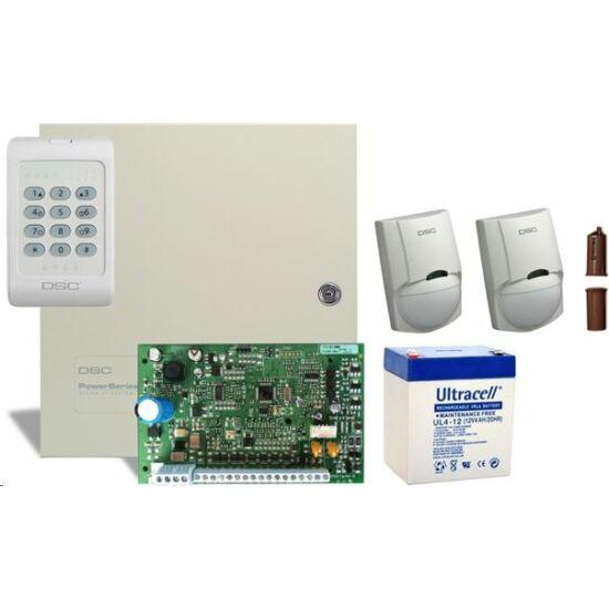 DSC PC1404 csomag + 4 Ah akkumulátor
