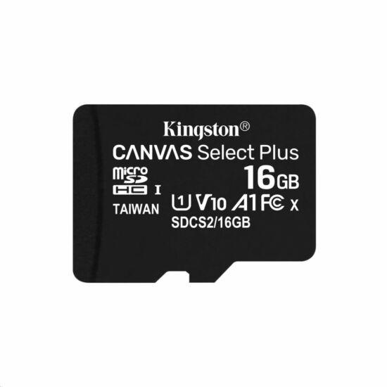 16GB microSDHC Kingston Canvas Select Plus CL10 memóriakártya (SDCS2/16GBSP)
