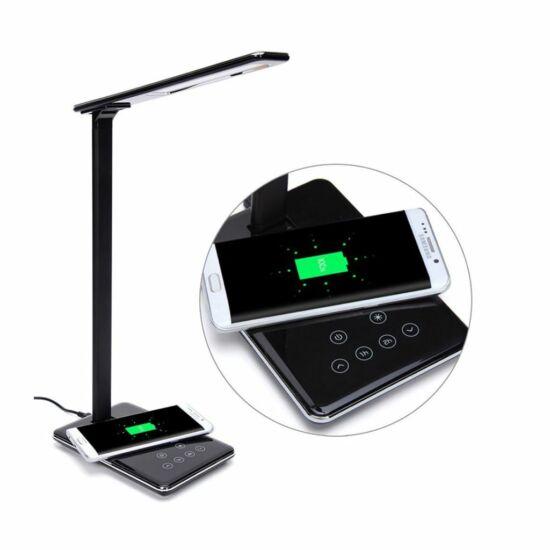 Xprotector asztali lámpa vezeték nélküli telefontöltő funkcióval fekete (119978)